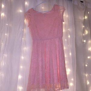 Cute Lacy Pink Dress